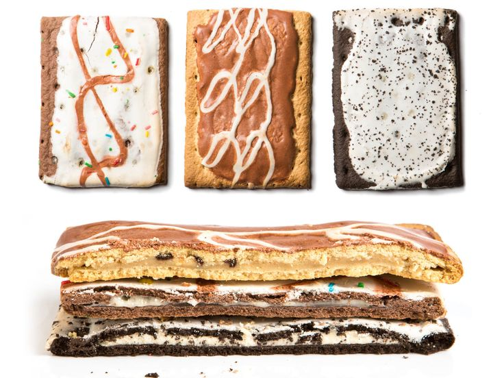 novelty pop-tarts: chocolate chip, red velvet, cookie dough, birthday cake