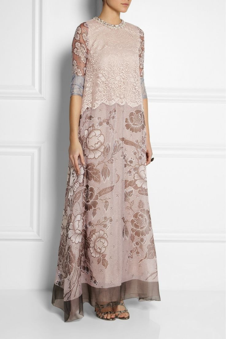 Biyan | Granger lace and silk-blend organza gown | NET-A-PORTER.COM