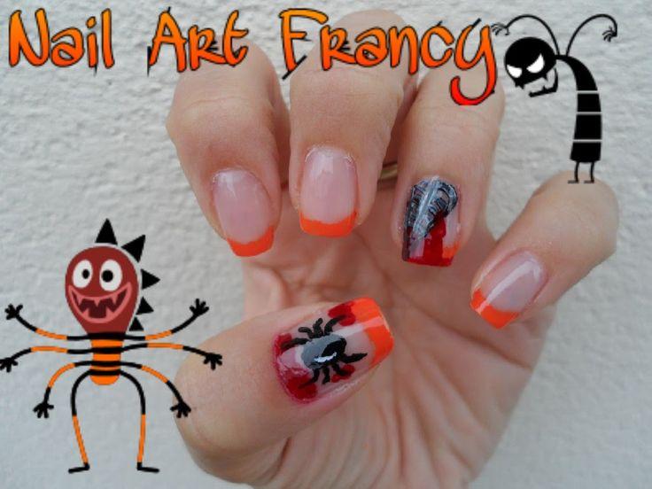 Tutorial Nail Art Halloween #1