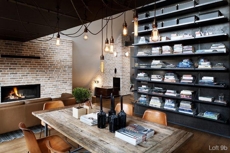 Woonkamer met industriele hanglampen: thuis bij marjolein van ...