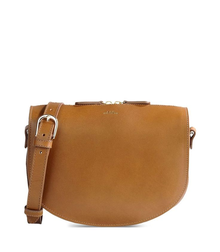 A.P.C. Brown Leather Messenger Bag | Bags