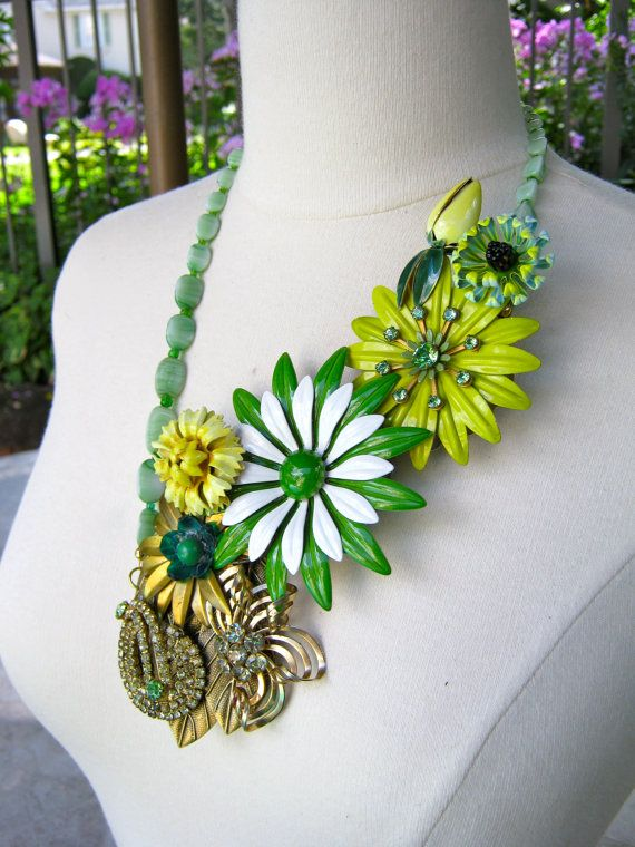 Statement Necklace Reclaimed Vintage by JenniferJonesJewelry, $165.00