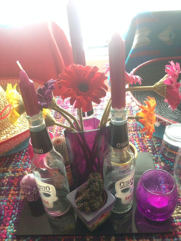 Mexican theme party. Sombreros. Sugar skulls. Flowers. Cactus.
