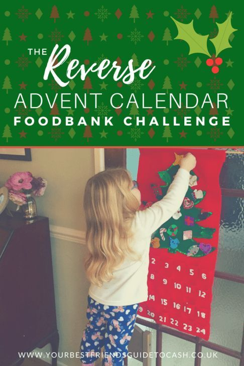 The Reverse Advent Calendar Foodbank Challenge