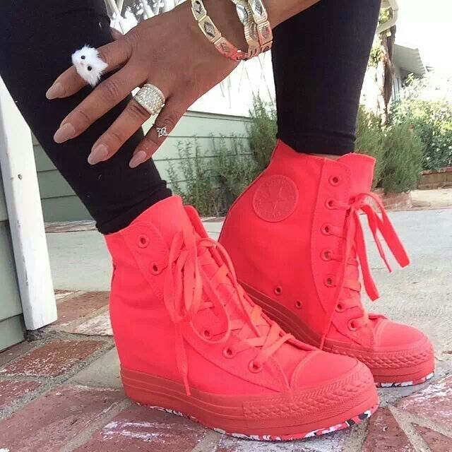 Converse wedge sneaks ♡♥♡ courtesy of Christina Milian