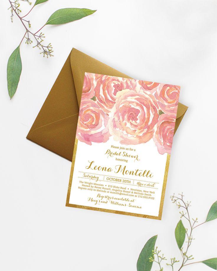 Leona Blush Pink Gold Bridal Shower