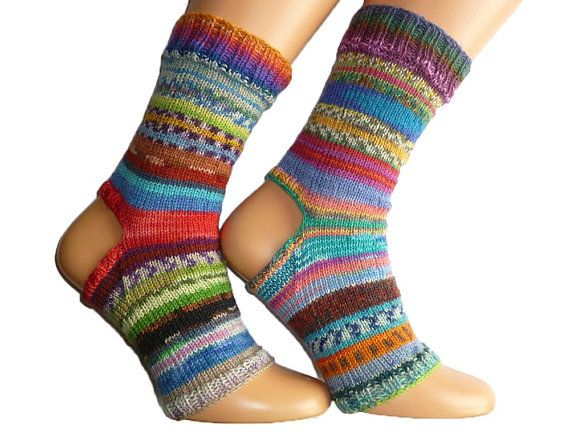 3c5a7b52b1ae8 TODAY SALE Spa Socks Yoga Socks Flip Flop Socks Dance Pilates Pedicure  Summer Socks mismatched socks Hand Knit