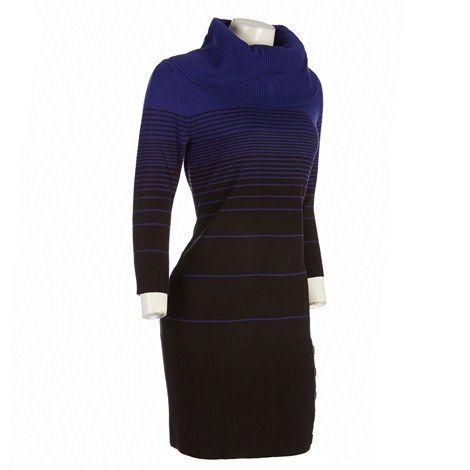 Unique Blue Black Sweater Dress Dresses Women Burlington Coat Factory
