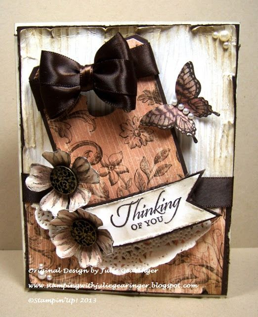 Stamping with Julie Gearinger: Vintage Thinking of You- Flowers in the Subway :-)