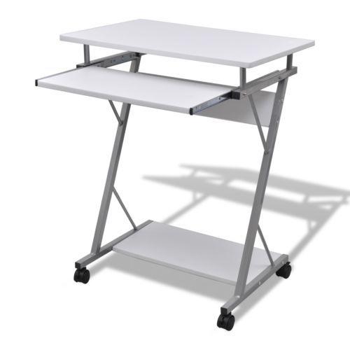 Computertisch Schreibtisch Büro Computerwagen PC-Tisch Laptop auf Rollen weiß #Ssparen25.com , sparen25.de , sparen25.info