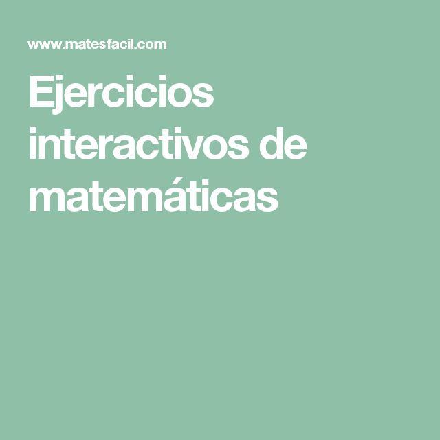 Ejercicios interactivos de matemáticas