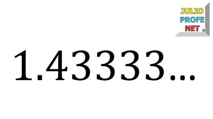 UD 1 Fracción generatriz de un número decimal infinito periódico mixto