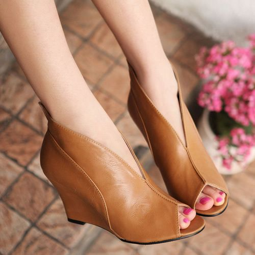 Free Shipping Open Toe Sandals Wedges Summer Boots Gladiator British Style Women S Shoes Fashion High