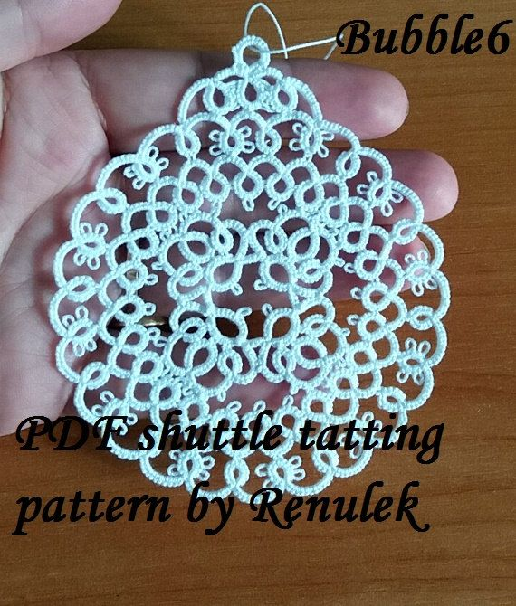 PDF Original Shuttle Tatting Pattern. Xmas Bubble6. by Renulek