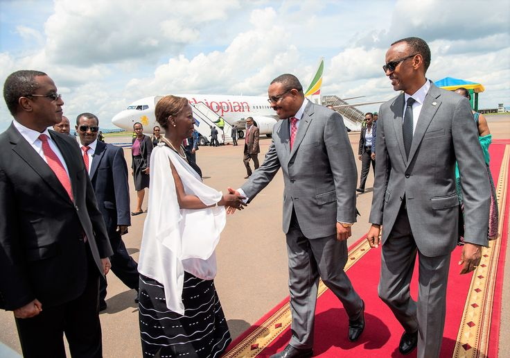 Prime Minister Hailemariam Desalegn in Kigali Rwanda with President Paul Kagame