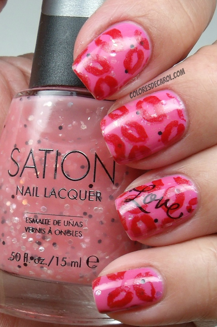 57 best Valentine\'s day nail art images on Pinterest | Heart nails ...