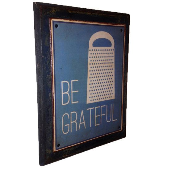 Be Grateful Kitchen Art: Kitchen Sign Be Grateful Sign Perfect Wedding Gift By