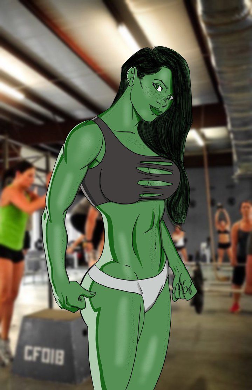 #She #Hulk #Fan #Art. (She-Hulk Fitness Model Finished) By:Cgartiste. (THE * 5 * STÅR * ÅWARD * OF: * AW YEAH, IT'S MAJOR ÅWESOMENESS!!!™)[THANK U 4 PINNING!!<·><]<©>ÅÅÅ+(OB4E)