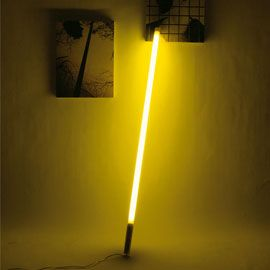 Seletti Coloured Fluorescent Tube Light - 616211 - Fluor Tube Light Yellow