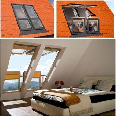 Fen tres de toit escalier escamotables de fakro fakro for Fenetre escalier