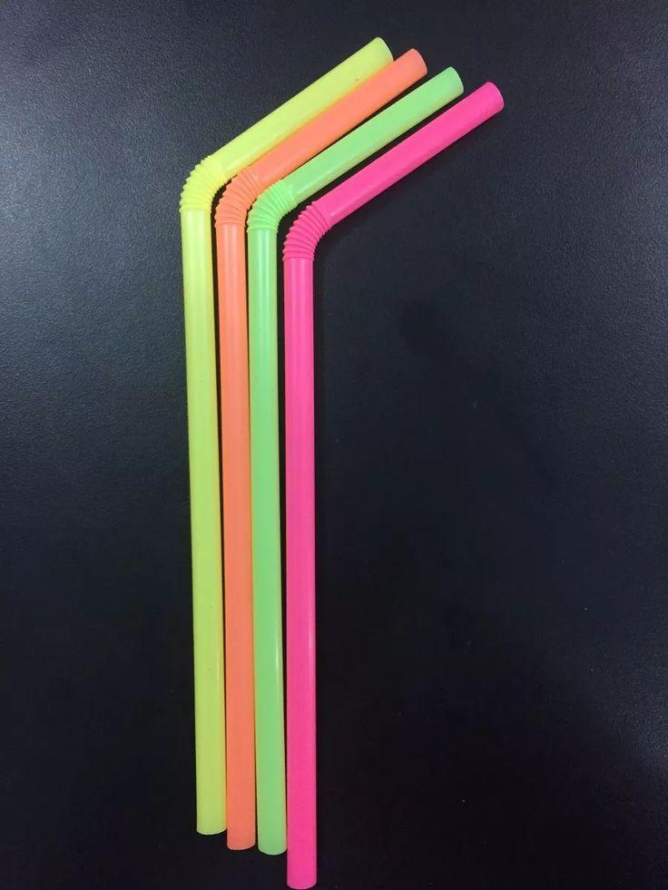 canudo flexível neon caixa c/ 3.000 unid. menor preço