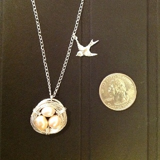 The DIY nest necklace. I added a bird.  To be auctioned at my son's school next week. More to follow... - Click image to find more DIY & Crafts Pinterest pins