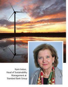 Head of Sustainability Management at #StandardBank Group, Karin Ireton talks #green energy in #SouthAfrica.