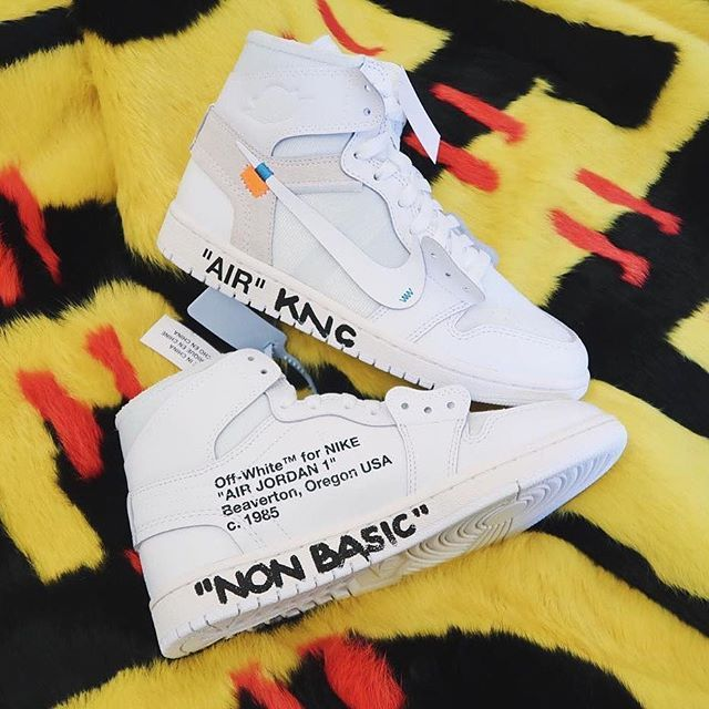An all-white pair of the @virgilabloh x @nike Air Jordan 1 was revealed at @off____white's Fall/Winter 2018 Paris Fashion Week Men's presentation. Head to hypebae.com for more details. Photo: @kristennoelcrawley