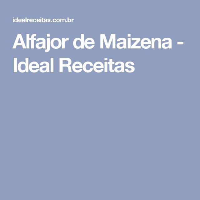 Alfajor de Maizena - Ideal Receitas