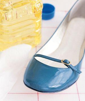 Vegetable oil shoe shine.