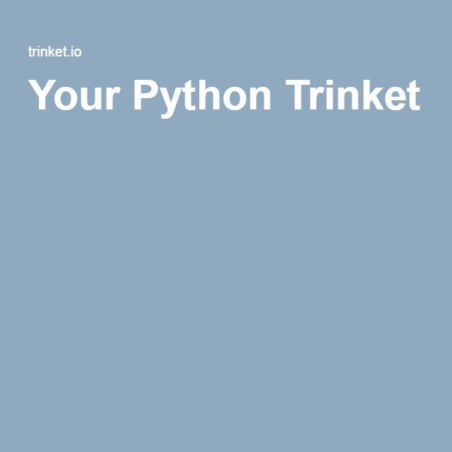 Your Python Trinket
