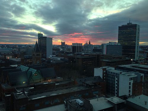 awesome Manchester City Centre by Sunset #Workspacedesignandbuild