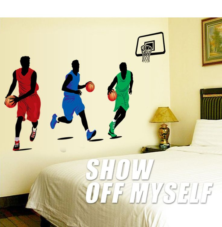 PLAY Basketball Wall Sticker Art Home Decor Art Decals Kids Boy Room Decor Wall  Stickers For Part 96