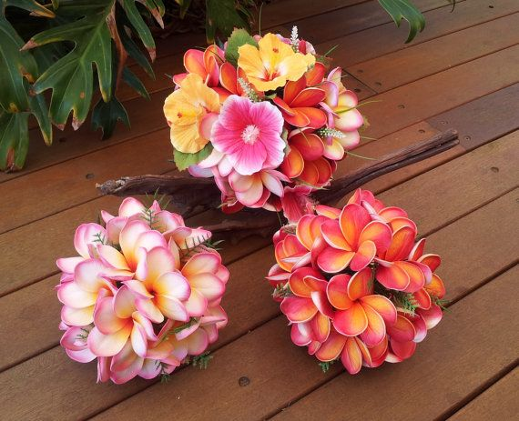 Plumeria Hibiscus Bouquet Package Choice of by Abloomortwo on Etsy