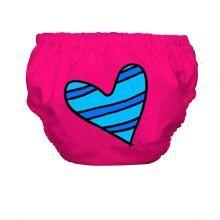 heart on pink swim diaper/Charlie Banana