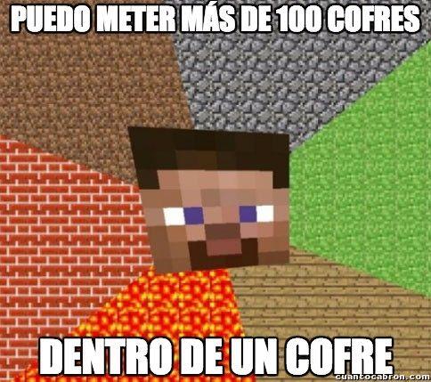 Lógica tremenda de Minecraft        Gracias a http://www.cuantocabron.com/   Si quieres leer la noticia completa visita: http://www.estoy-aburrido.com/logica-tremenda-de-minecraft/