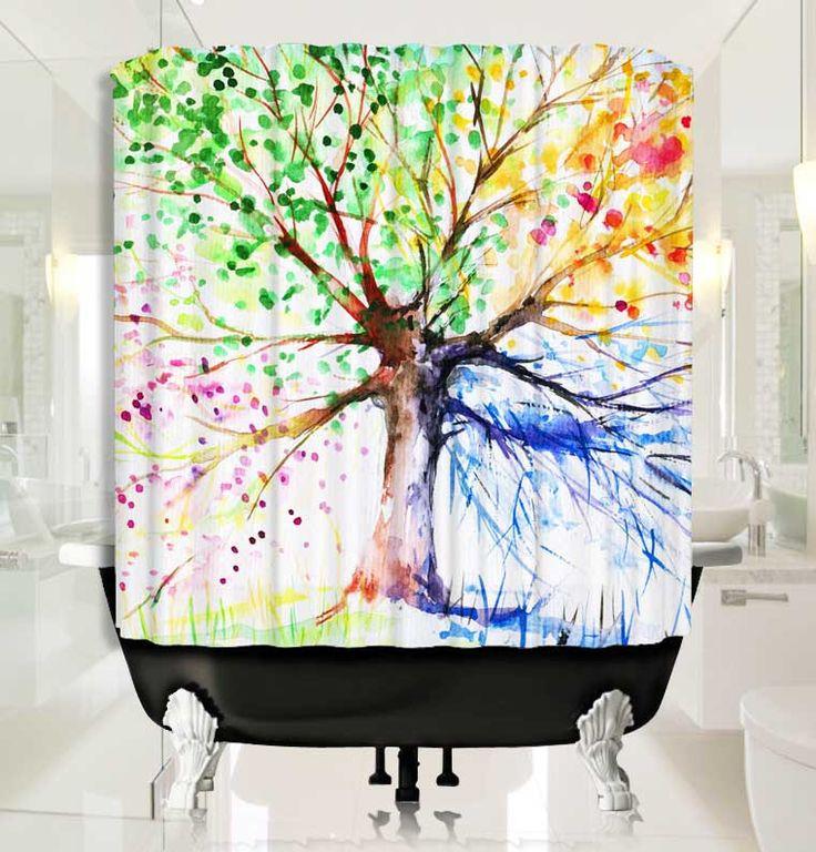 4 Season Tree Shower Curtain