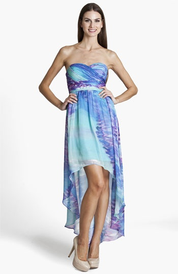 JS Boutique Strapless High/Low Dress available at #Nordstrom
