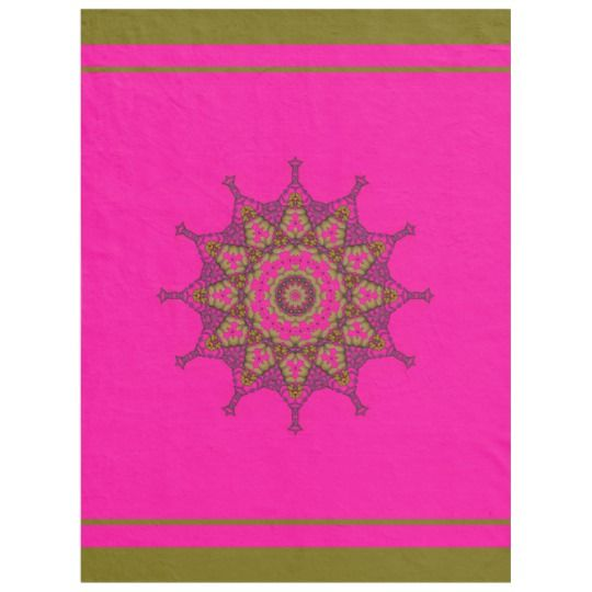 3D Art Mandala Fleece Blanket, Large by www.zazzle.com/htgraphicdesigner* #zazzle #gift #giftidea #pink  #throw #blanket #happy #mothersday #abstract