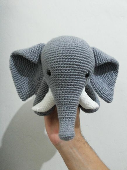Elefante amigurumi- elefante de crochê (José) no Elo7 | Novelo de ... | 580x435
