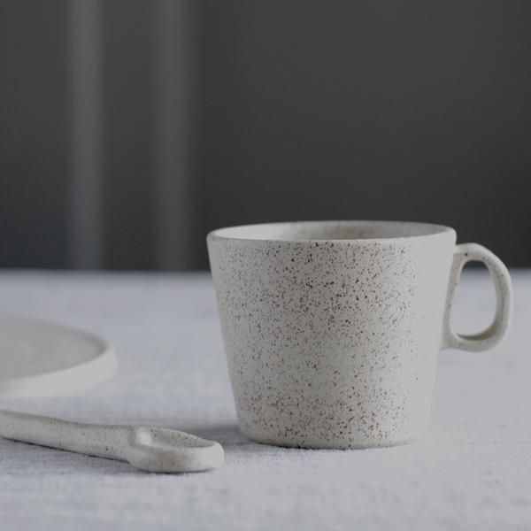 Handmade Speckled Mug With Handle Pottery Jugs Mugs Ceramic Dishes