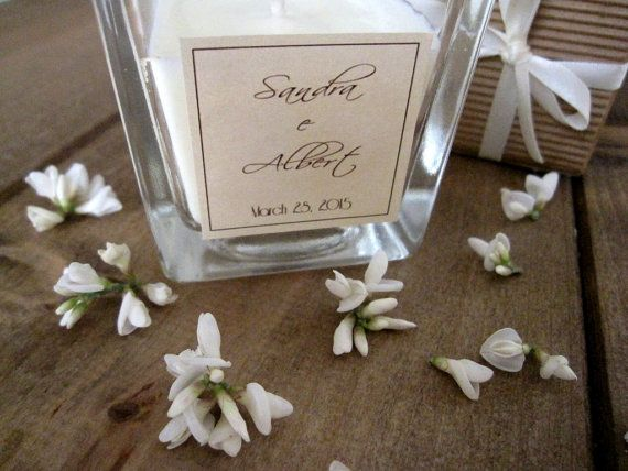 25 Wedding Candle 4oz Personalized Custom di EstherEssenceCandles