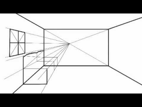como dibujar perspectiva central