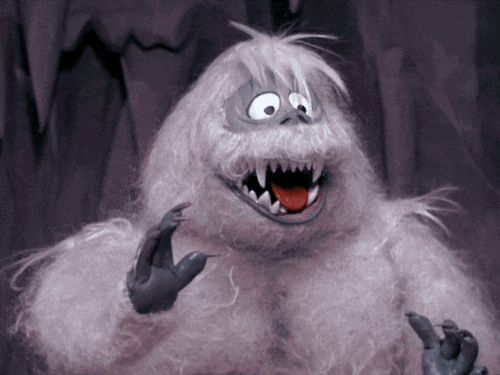 Abominable Snow Monster from Rudolph the Red Nosed Reindeer animated GIF