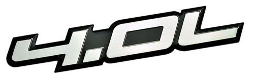 4.0L Liter Embossed SILVER on Black Highly Polished Silver Real Aluminum Auto Emblem Badge Nameplate for BMW 540i 740i 740il 840Ci M3 Land Rover Discovery LR3 Mazda B4000 Nissan Frontier Xterra Pathfi