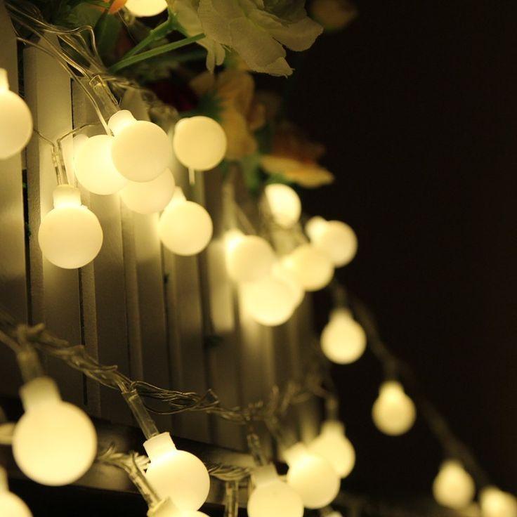 Dimable Ball Fairy Lights,ER CHEN(TM) 100 LED 33Ft Globe String Lights