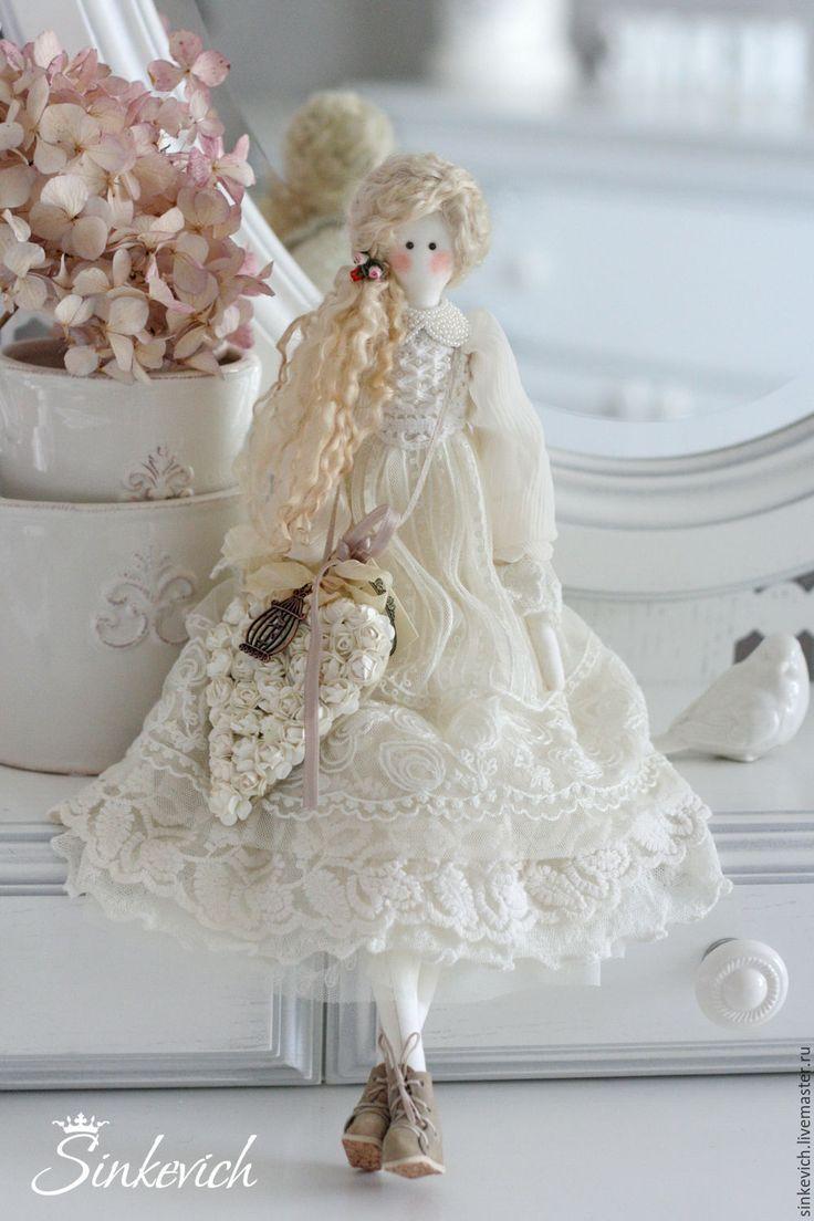 Купить Аннет - белый, тильда, кукла интерьерная, кукла Тильда, кукла текстильная, для декора дома