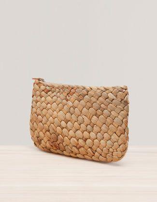 Leather Statement Clutch - Retro BW leather clutch by VIDA VIDA 3Esw2zwd