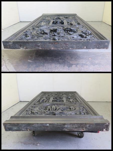 ◎希少!ブロンズ製 人物文装飾扉 彫刻 西洋美術 ローマ神話_画像5