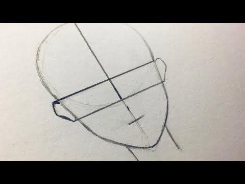 كيفية رسم الانمي التشريح الأساسي للوجه رسم تعليمي للمبتدئين Youtube Pencil Drawings Triangle Tattoo How To Drow